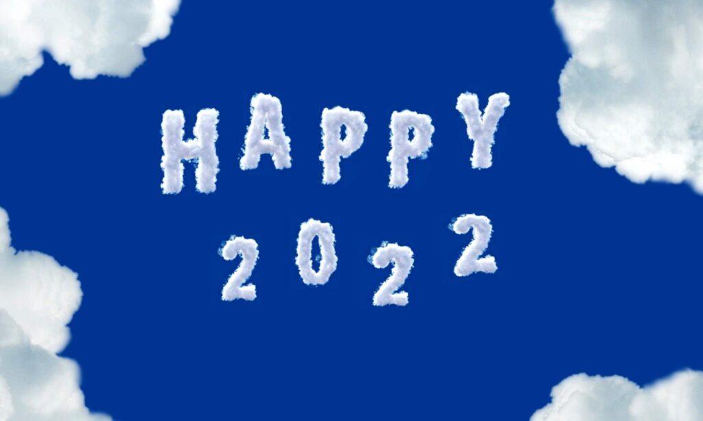 Sky blue Happy New year 2022